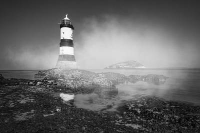 Penmon Lighthouse Poster by Ian Mitchell