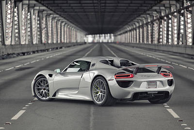 Poster featuring the photograph Porsche 918 Spyder  by ItzKirb Photography