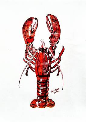 Red Lobster Poster by Scott D Van Osdol
