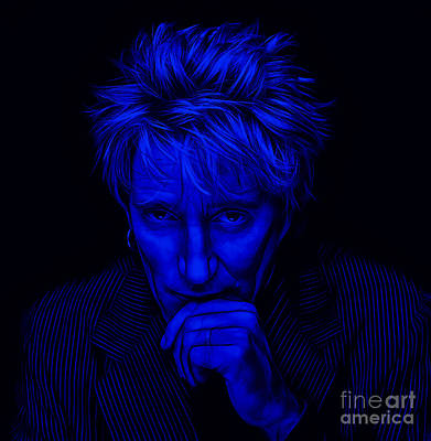 Rod Stewart Collection Poster by Marvin Blaine