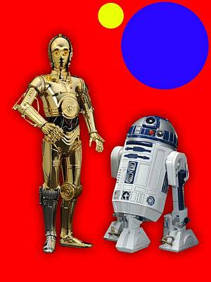 Star Wars C3po And R2d2 Collection Poster by Marvin Blaine