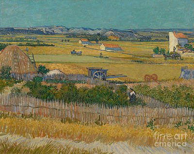 The Harvest Poster by Vincent Van Gogh