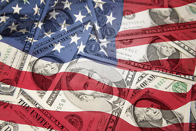 Usa Finance Poster by Les Cunliffe