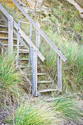 Wooden Steps Poster by Tom Gowanlock
