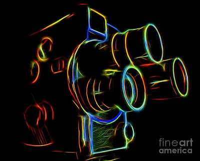 8mm In Neon Poster by Mark Miller