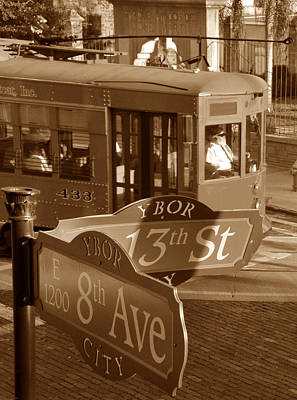 8th Ave Trolley Poster by David Lee Thompson