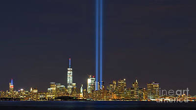 9-11 Nyc Skyline  Poster by Jerry Fornarotto