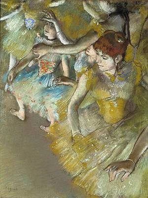Ballet Dancers On The Stage Poster by Edgar Degas