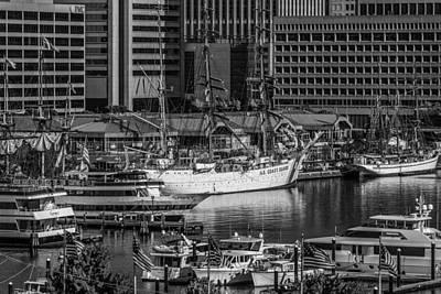Baltimore Inner Harbor Poster by Jim Archer