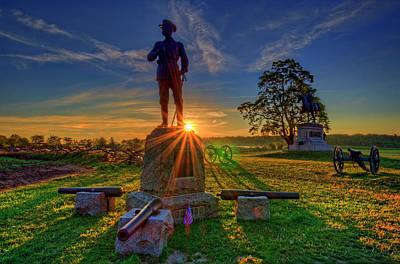 Gettysburg Mcpherson Ridge Sunrise Poster by Craig Fildes