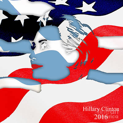 Hillary Clinton 2016 Collection Poster by Marvin Blaine