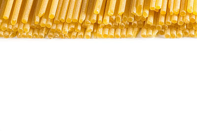Italian Spaghetti Extruded Through Bronze  Poster by Alain De Maximy