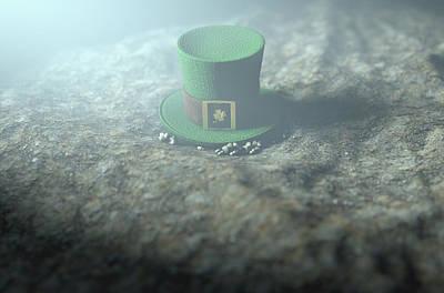 Lost Tiny Leprechaun Hat  Poster