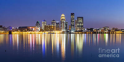 Louisville, Kentucky Skyline Poster by Twenty Two North Photography
