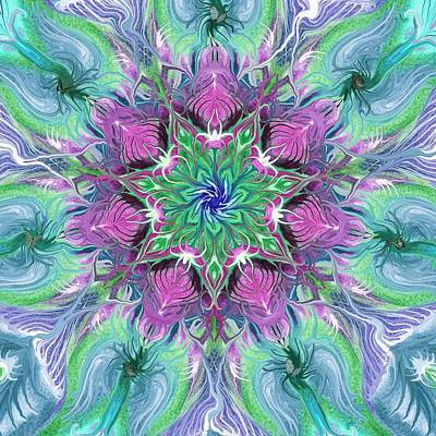 Mandala Spring Power Poster