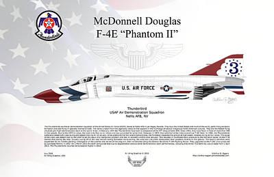 Mcdonnell Douglas F-4e Phantom II Thunderbird Poster