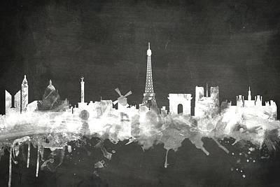Paris France Skyline Poster
