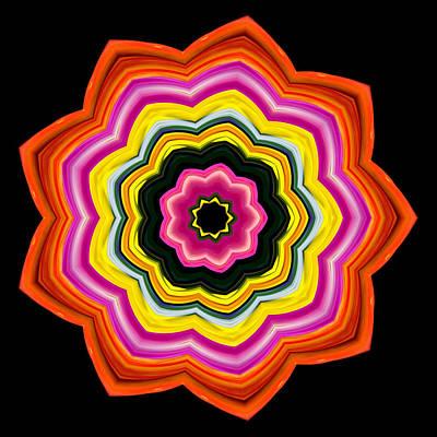 9-petaled Roses Poster by Baha'i Writings As Art