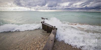 Point Betsie Breakwall Poster by Twenty Two North Photography