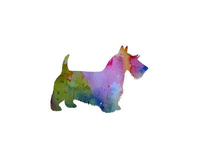 Scottish Terrier Poster by Mordax Furittus