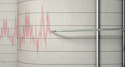 Seismograph Earthquake Activity Poster
