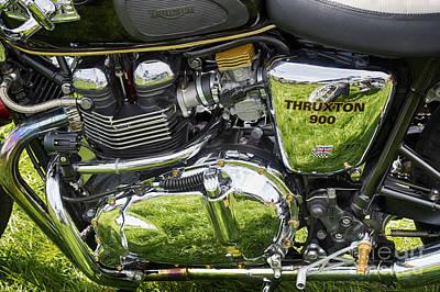 900 Thruxton Engine Poster