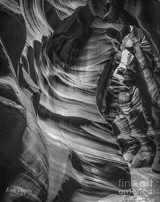 90116 Antelope Canyon Bw Poster