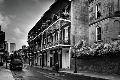 910 Royal Street In Black And White Poster by Greg and Chrystal Mimbs