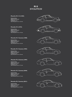 911 Evolution Poster by Mark Rogan