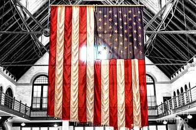 911 Ground Zero Flag Poster