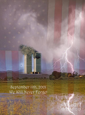 911 We Will Never Forget Poster by James BO  Insogna