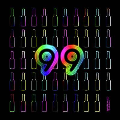 99 Bottles Of Neon Beer Poster