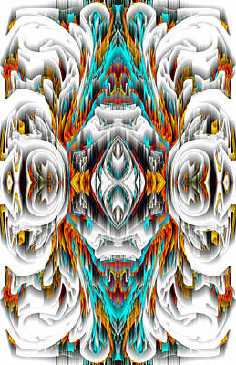 Poster featuring the digital art 992.042212mirror2ornategold-1-a by Kris Haas