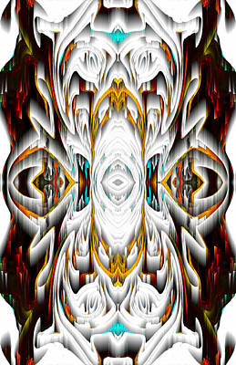 Poster featuring the digital art 992.042212mirror2ornateredagold-1a-1 by Kris Haas
