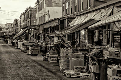 9th Street Italian Market - Philadelphia Pennsylvania Poster by Bill Cannon