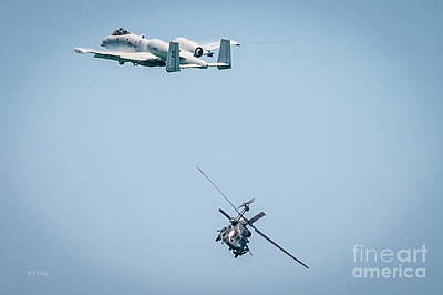 A-10 Thunderbolt II And The Blackhawk Poster by Rene Triay Photography