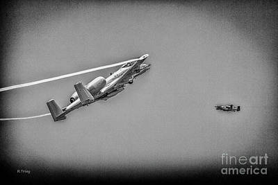 A-10 Thunderbolt II Making Their Pass Bw Poster by Rene Triay Photography