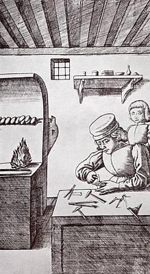 A 15th Century Locksmith Or Goldsmith Poster