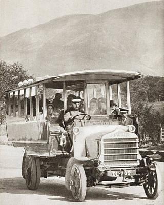 A 1913 Southdown Motor Service Daimler Poster