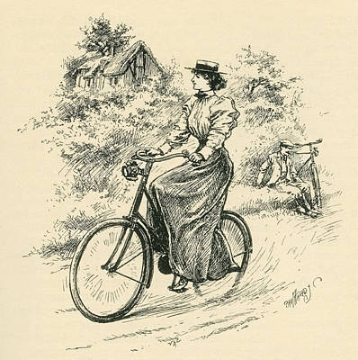 A 19th Century Female Cyclist. From The Poster