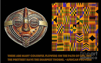 A  African Proverb Poster by Jacqueline Lloyd