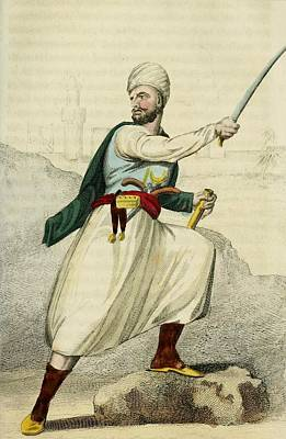 A Barbary Pirate Captain. Ca. 1800 Poster
