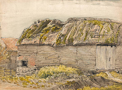 A Barn With A Mossy Roof, Shoreham Poster