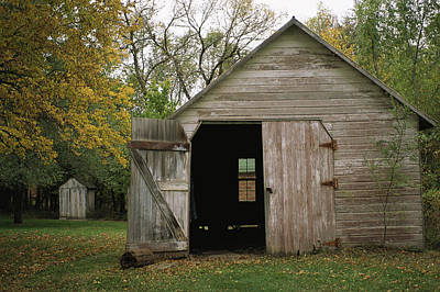 A Barn With An Open Door On Waveland Poster