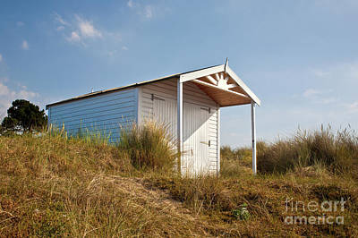 A Beach Hut In The Marram Grass At Old Hunstanton North Norfolk Poster by John Edwards