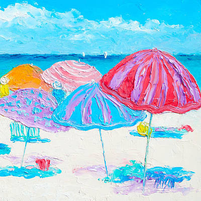 A Beach Scene Poster by Jan Matson