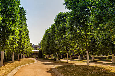 A Belgian City Park Poster