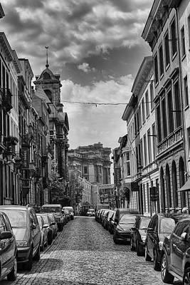 A Belgian Street In Brussels Poster