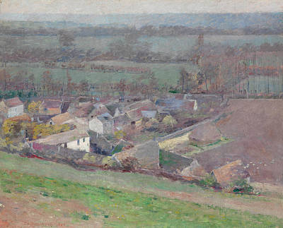 A Bird's-eye View Poster by Theodore Robinson