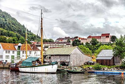 A Boat In Bergen Poster